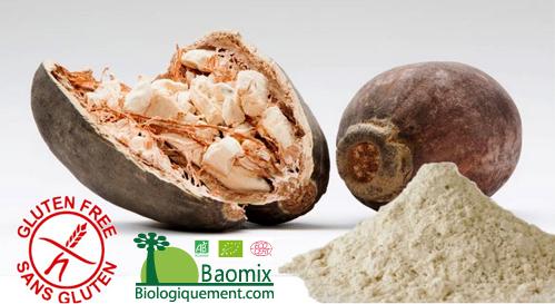 Baomix la poudre de fruit de baobab bio sans gluten